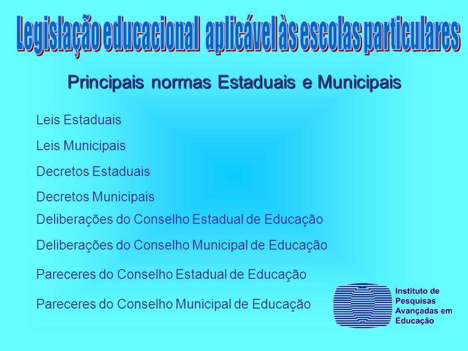 Legislação educacional aplicável às escolas particulares
