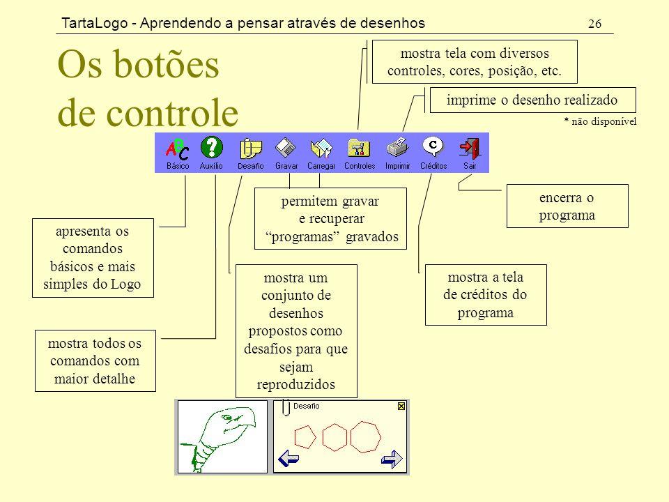 mostra tela com diversos controles, cores, posição, etc.