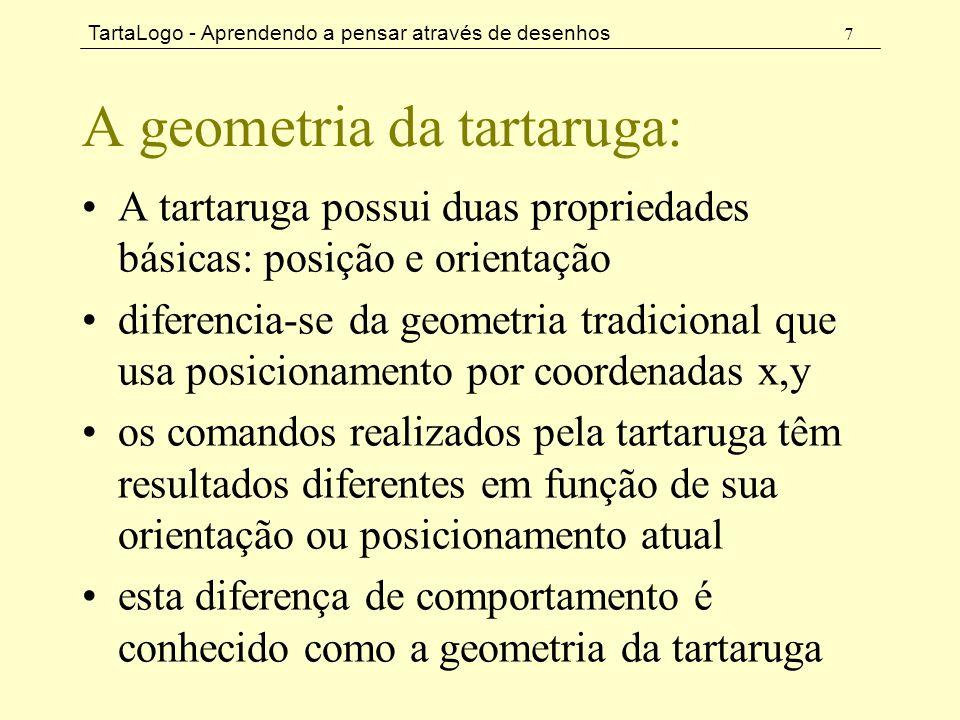 A geometria da tartaruga: