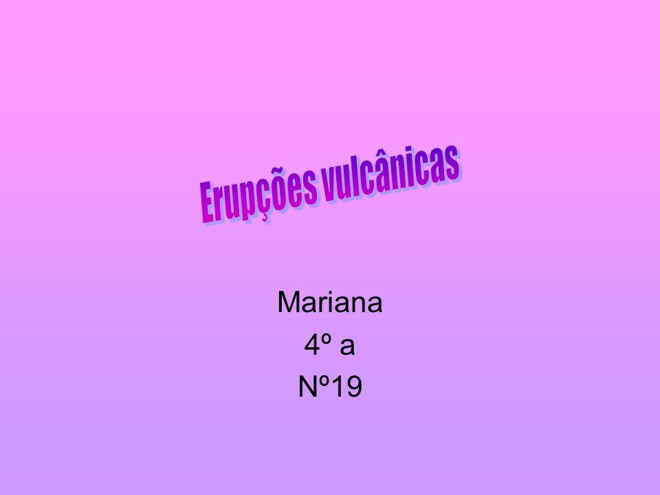 Erupções vulcânicas Mariana 4º a Nº19