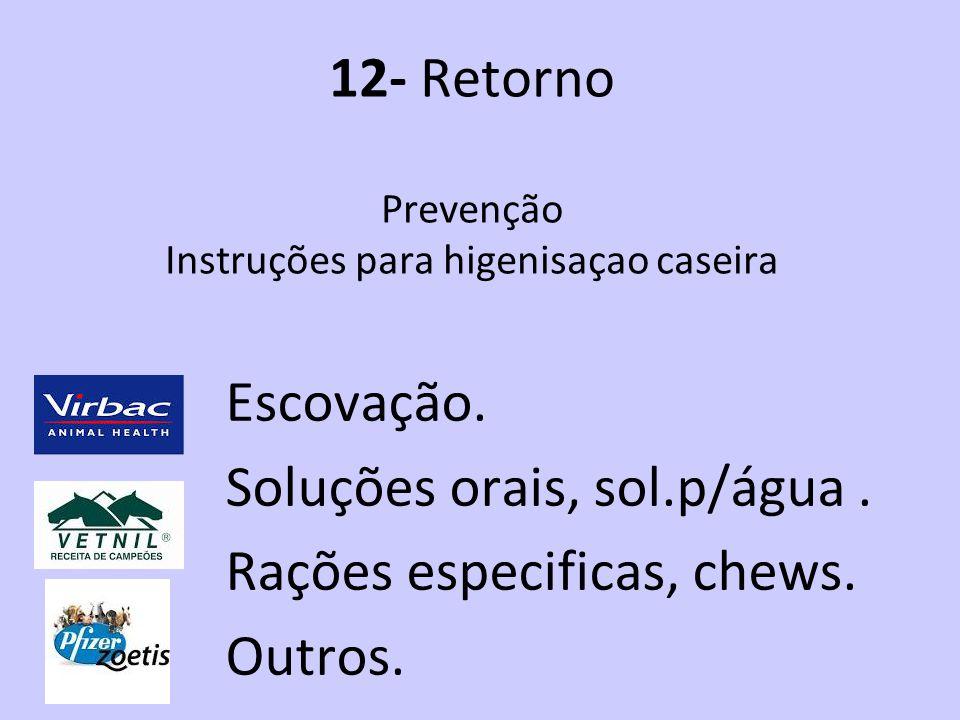 12- Retorno Prevenção Instruções para higenisaçao caseira
