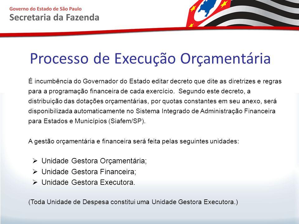 Processo de Execução Orçamentária