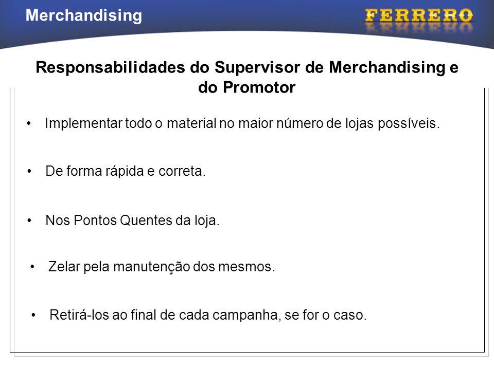 Responsabilidades do Supervisor de Merchandising e do Promotor