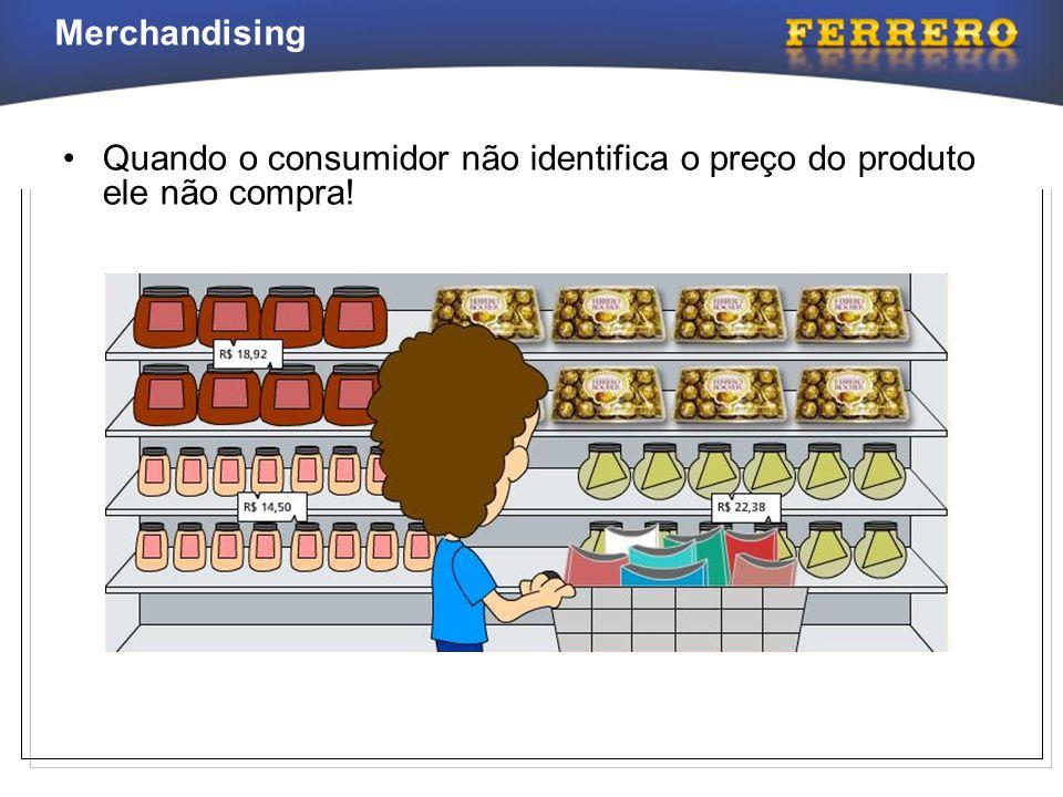 Quando o consumidor não identifica o preço do produto ele não compra!