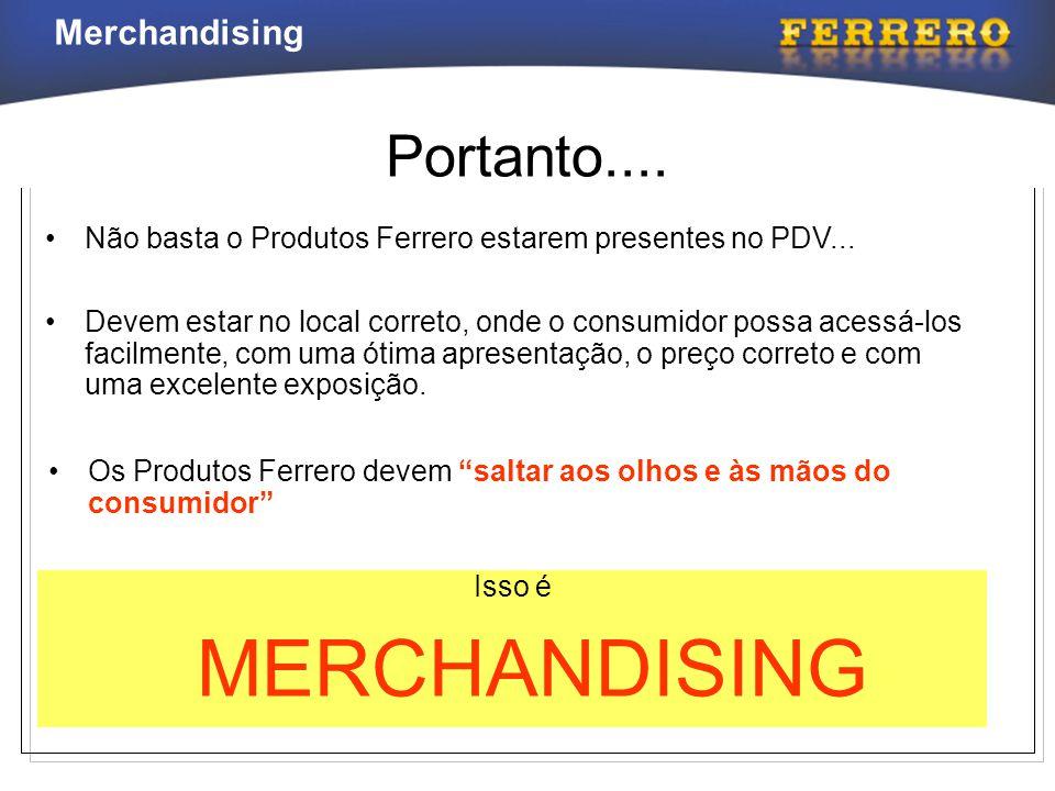 Portanto.... Não basta o Produtos Ferrero estarem presentes no PDV...