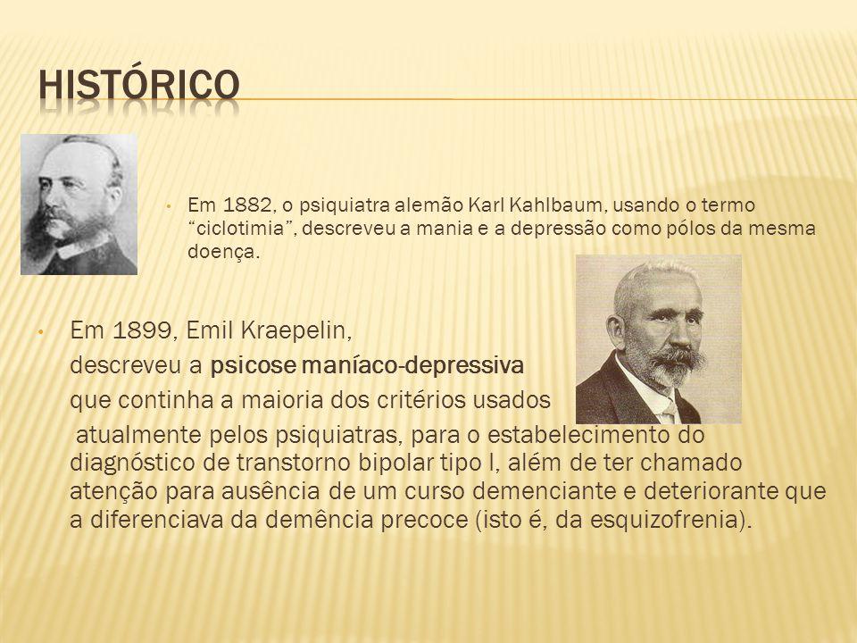 Histórico Em 1899, Emil Kraepelin,