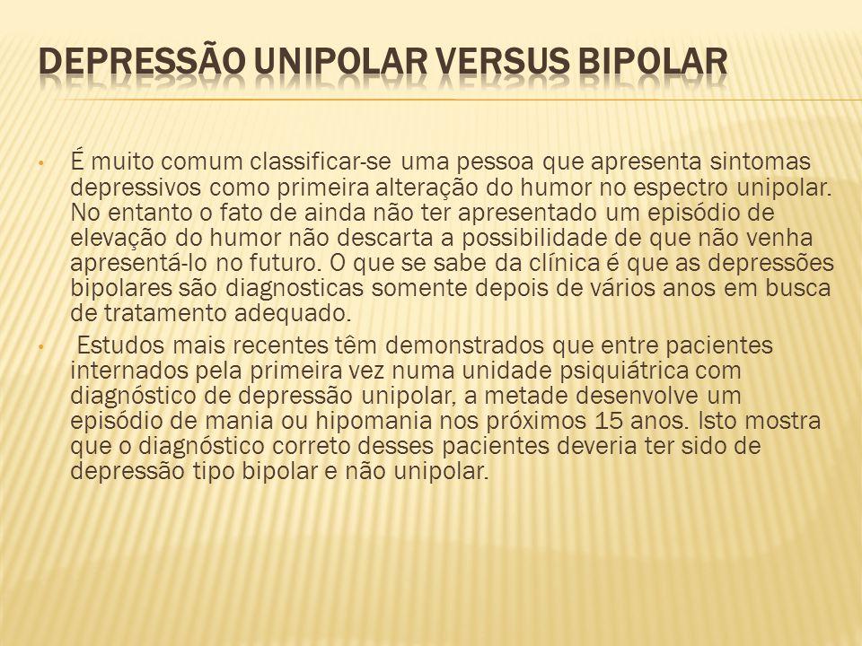 Depressão Unipolar versus Bipolar