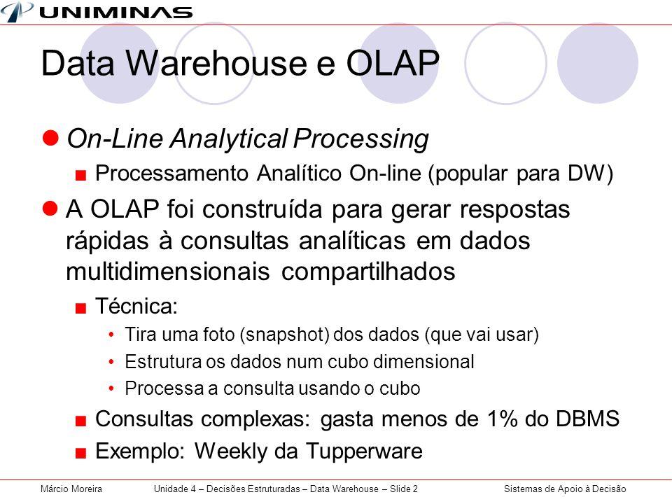 Unidade 4 – Decisões Estruturadas – Data Warehouse – Slide 2