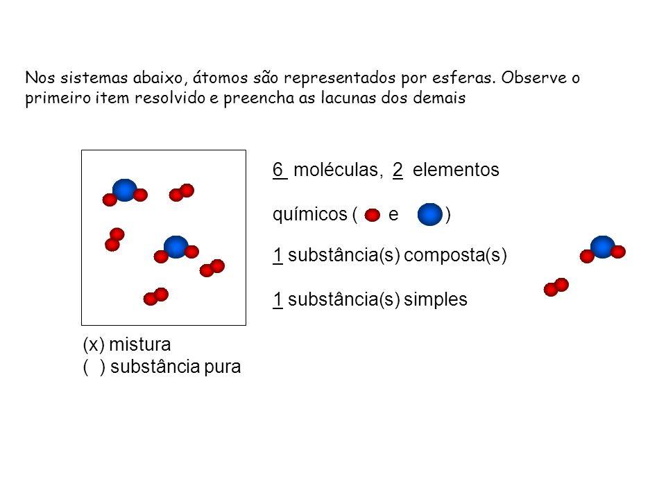 1 substância(s) composta(s) 1 substância(s) simples