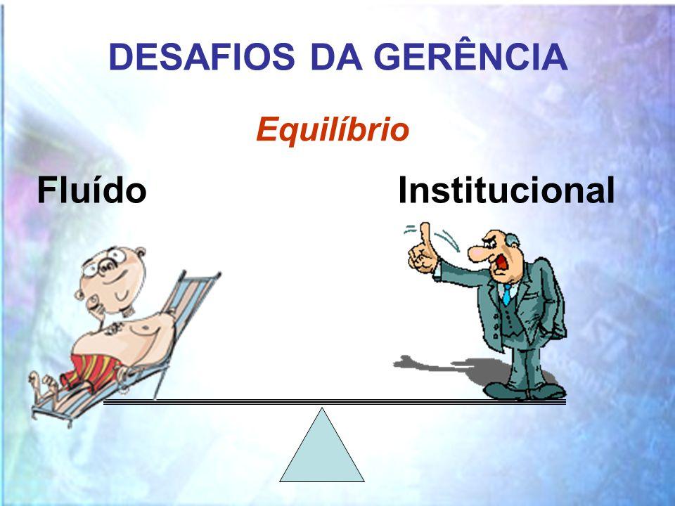 DESAFIOS DA GERÊNCIA Equilíbrio Fluído Institucional