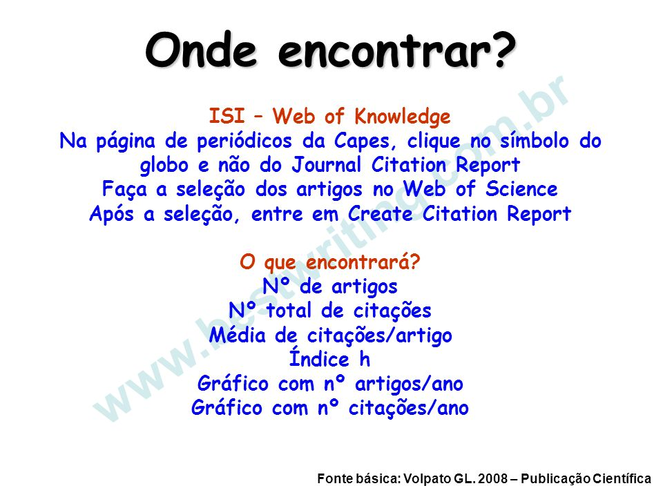 www.bestwriting.com.br Onde encontrar ISI – Web of Knowledge