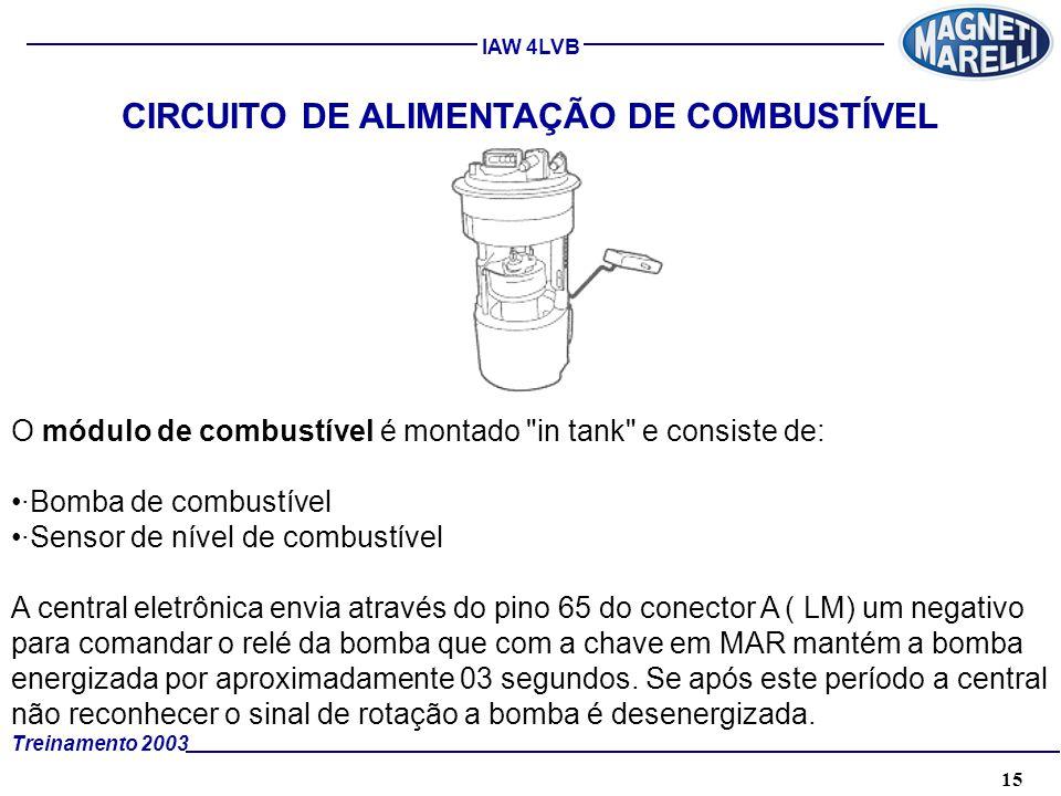 CIRCUITO DE ALIMENTAÇÃO DE COMBUSTÍVEL