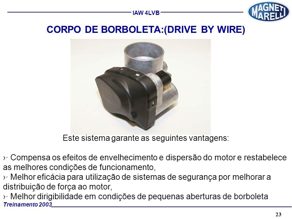 CORPO DE BORBOLETA:(DRIVE BY WIRE)