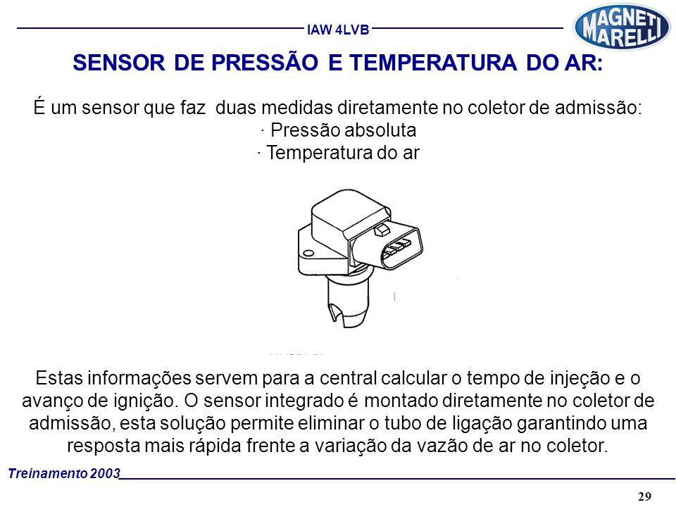 SENSOR DE PRESSÃO E TEMPERATURA DO AR: