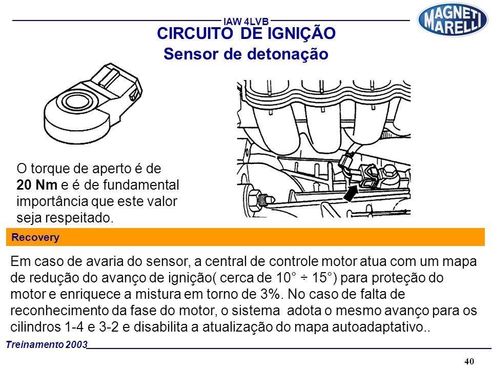 CIRCUITO DE IGNIÇÃO Sensor de detonação