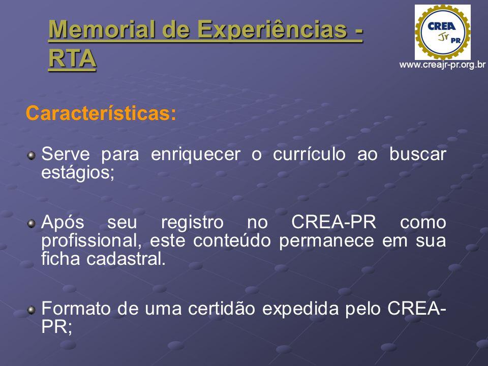 Memorial de Experiências - RTA
