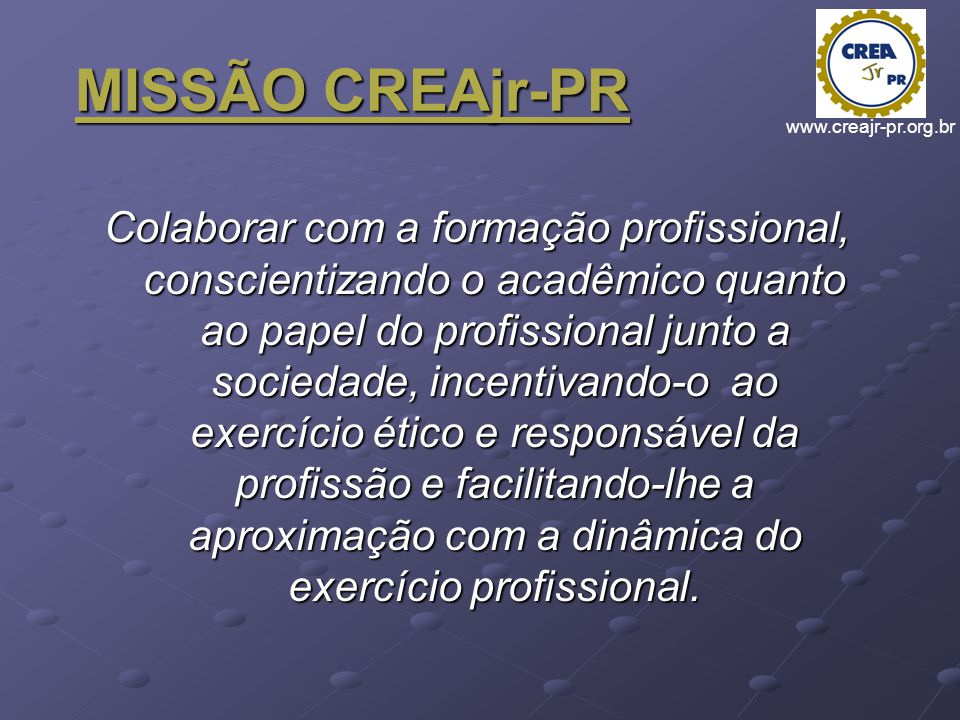 MISSÃO CREAjr-PR