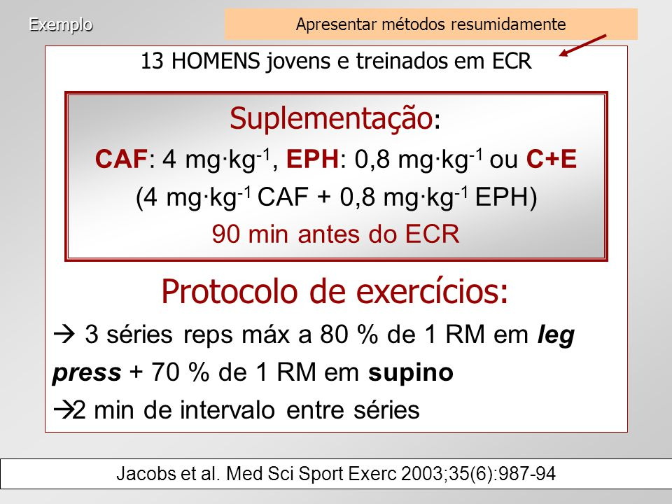 Protocolo de exercícios: