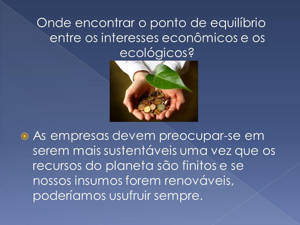 Onde encontrar o ponto de equilíbrio entre os interesses econômicos e os ecológicos