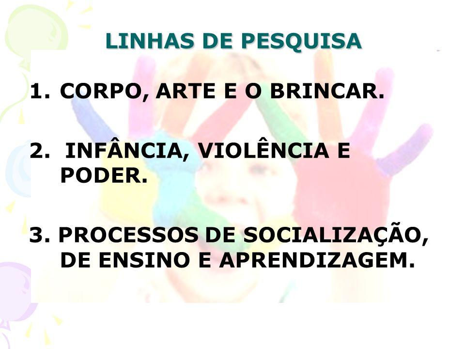 LINHAS DE PESQUISA CORPO, ARTE E O BRINCAR. 2. INFÂNCIA, VIOLÊNCIA E PODER.