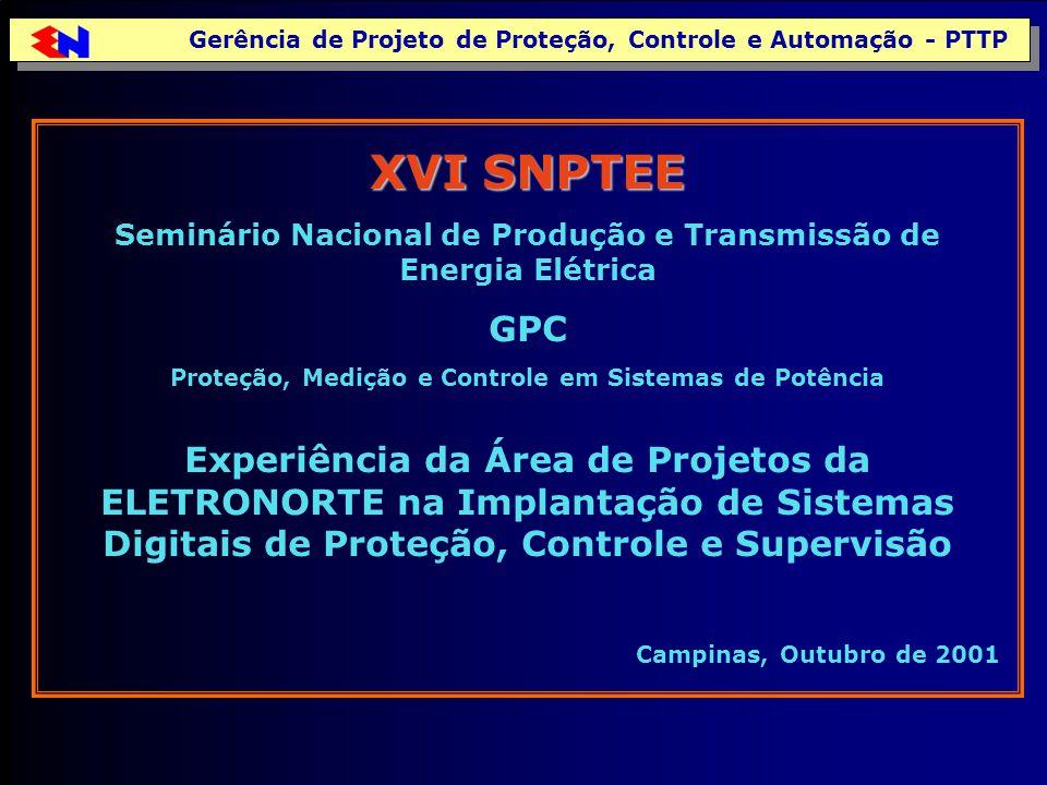 Gerência de Projeto de Proteção, Controle e Automação - PTTP