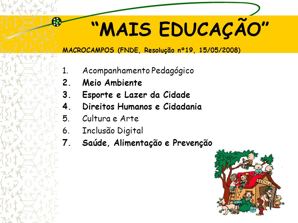MAIS EDUCAÇÃO Acompanhamento Pedagógico Meio Ambiente