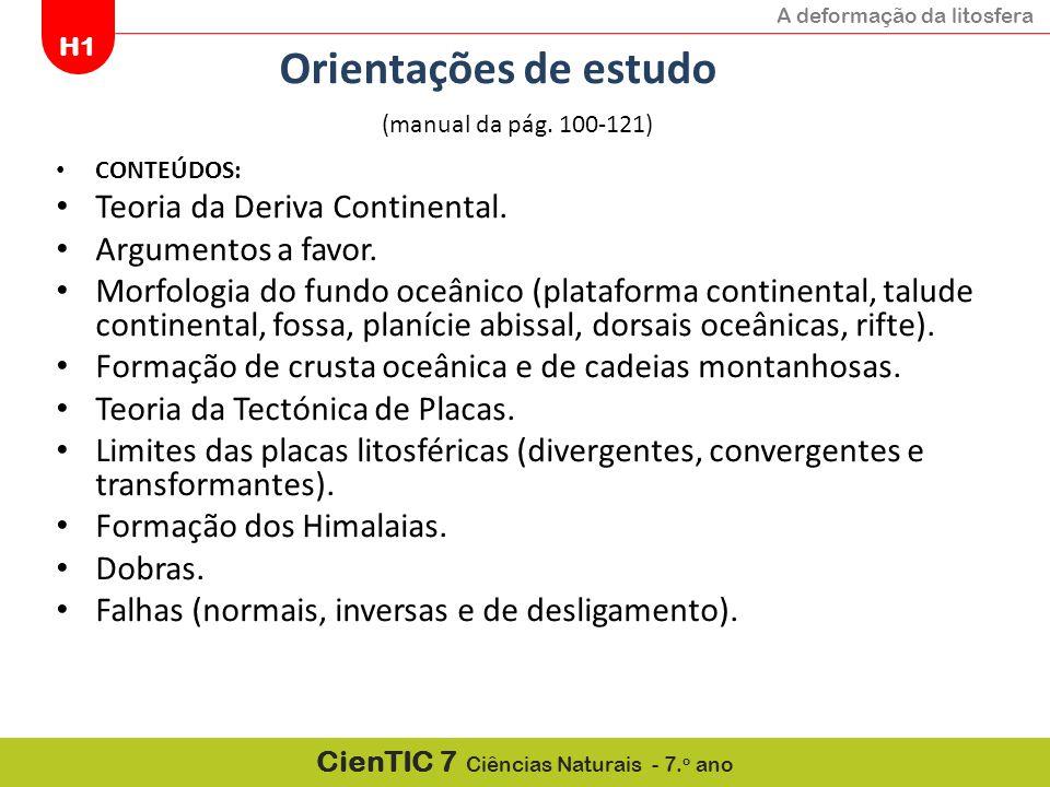 Orientações de estudo Teoria da Deriva Continental.