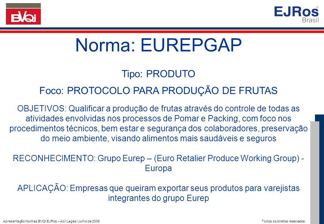 Foco: PROTOCOLO PARA PRODUÇÃO DE FRUTAS