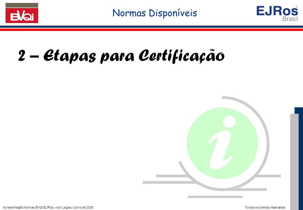 2 – Etapas para Certificação