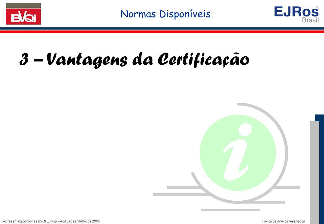 3 – Vantagens da Certificação