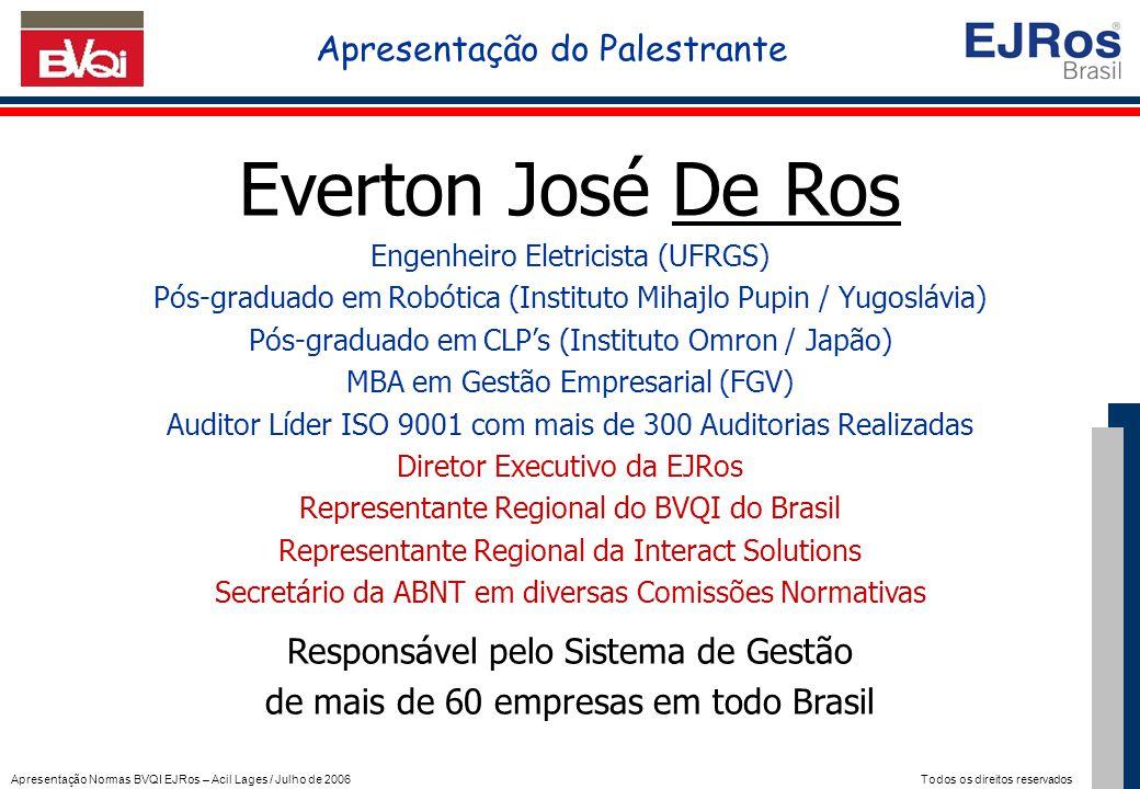 Everton José De Ros Apresentação do Palestrante