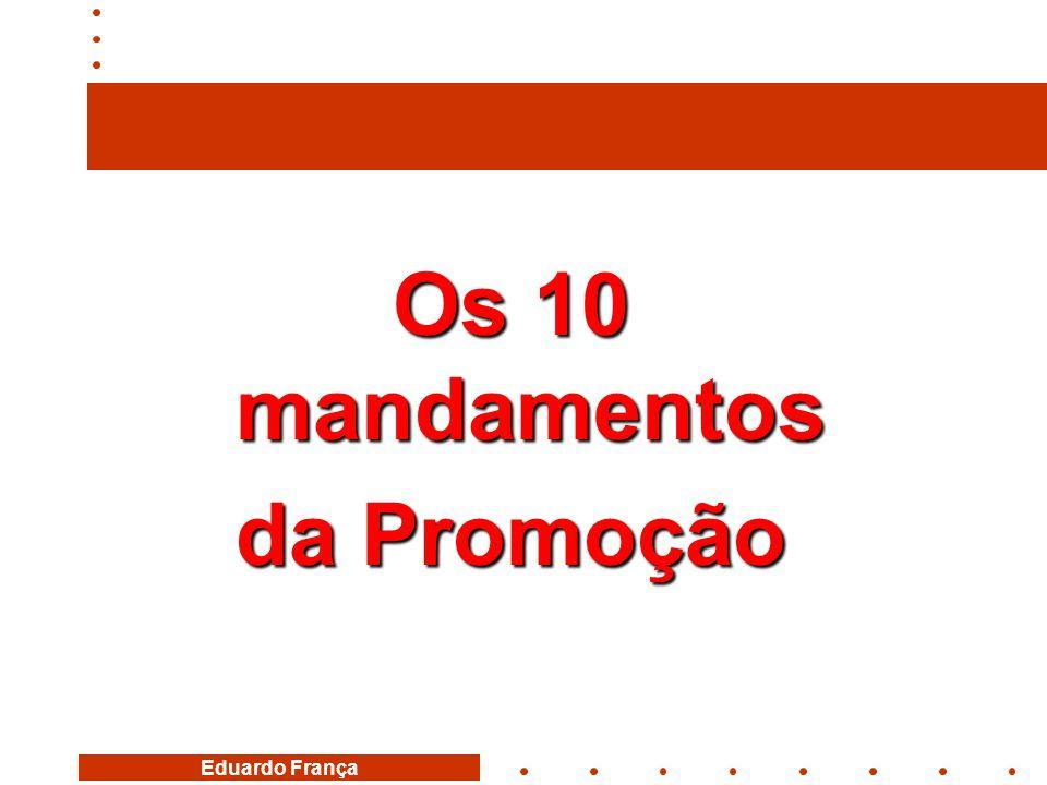 Os 10 mandamentos da Promoção