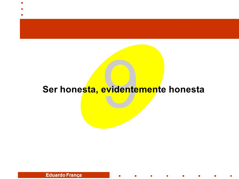 Ser honesta, evidentemente honesta