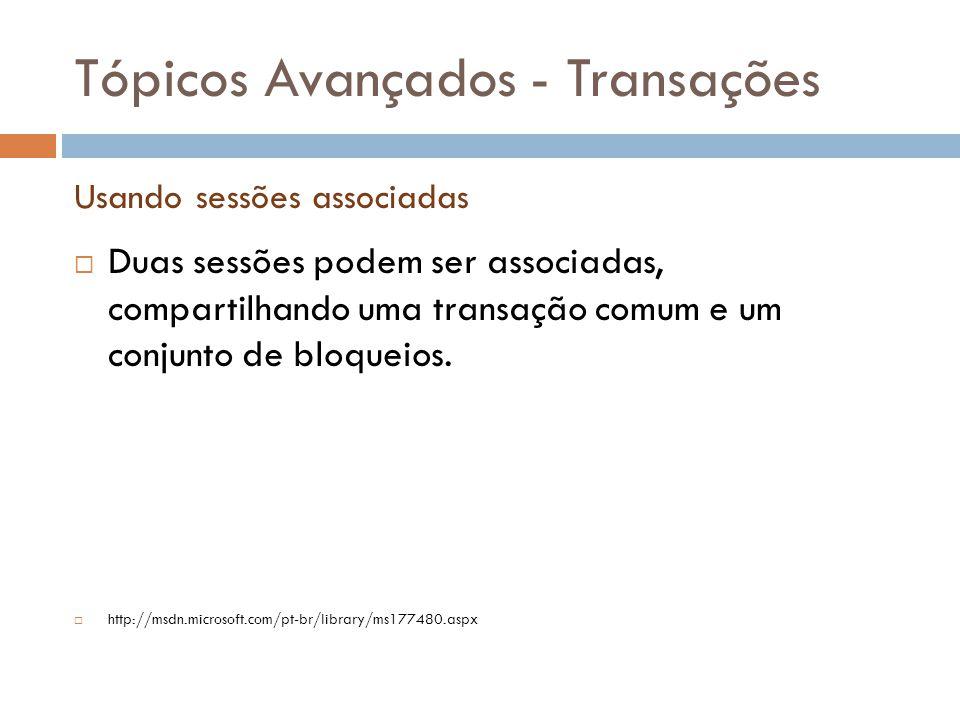 Tópicos Avançados - Transações