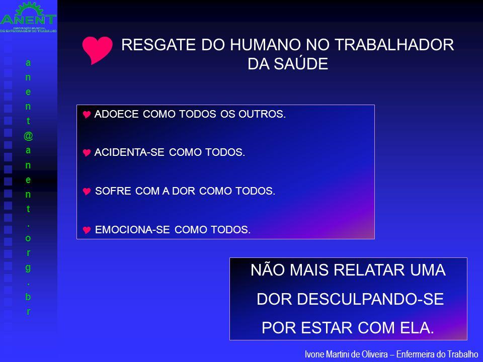 RESGATE DO HUMANO NO TRABALHADOR DA SAÚDE