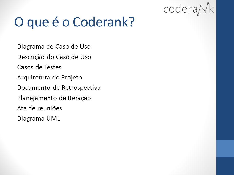 O que é o Coderank Diagrama de Caso de Uso Descrição do Caso de Uso