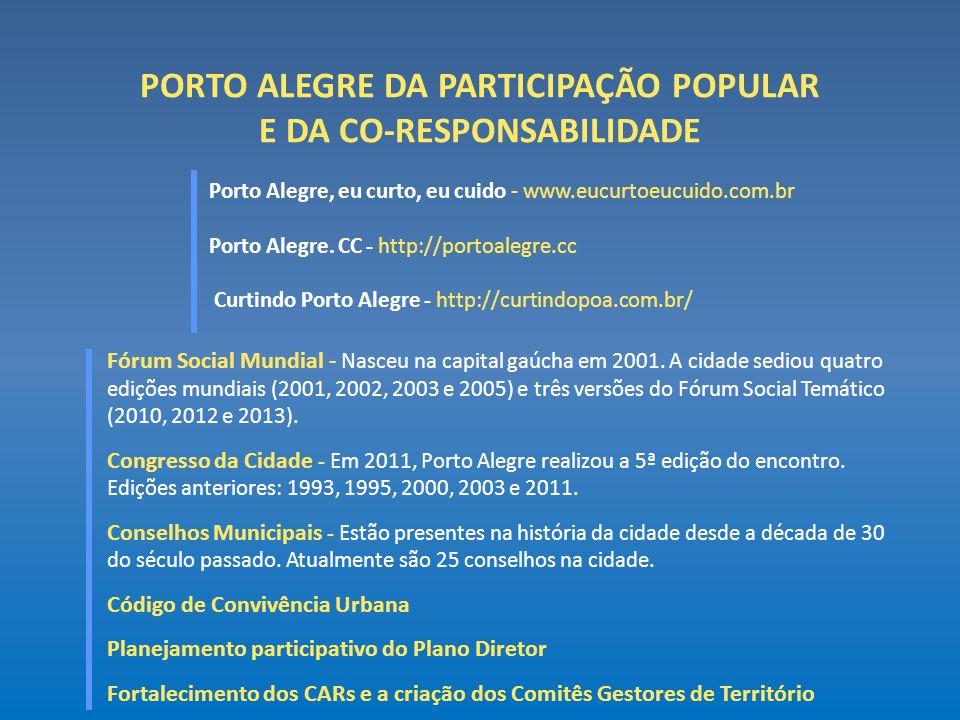 PORTO ALEGRE DA PARTICIPAÇÃO POPULAR E DA CO-RESPONSABILIDADE