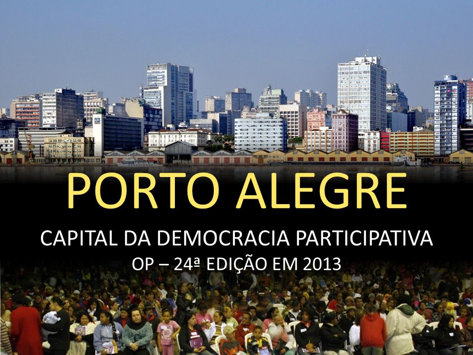 CAPITAL DA DEMOCRACIA PARTICIPATIVA