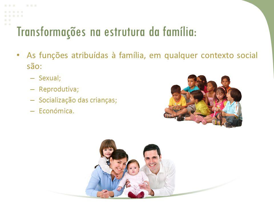 Transformações na estrutura da família: