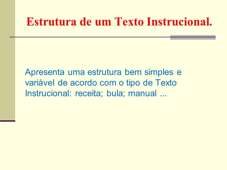 Estrutura de um Texto Instrucional.