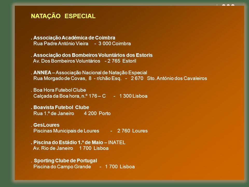 NATAÇÃO ESPECIAL . Sporting Clube de Portugal