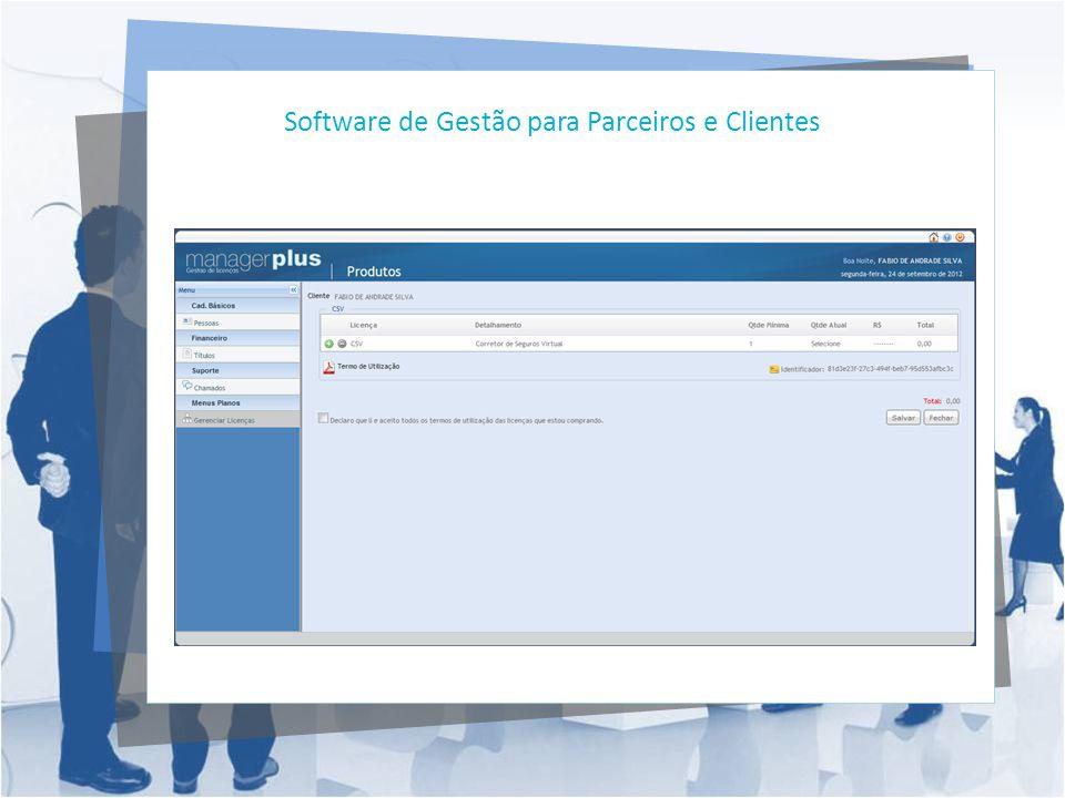 Software de Gestão para Parceiros e Clientes