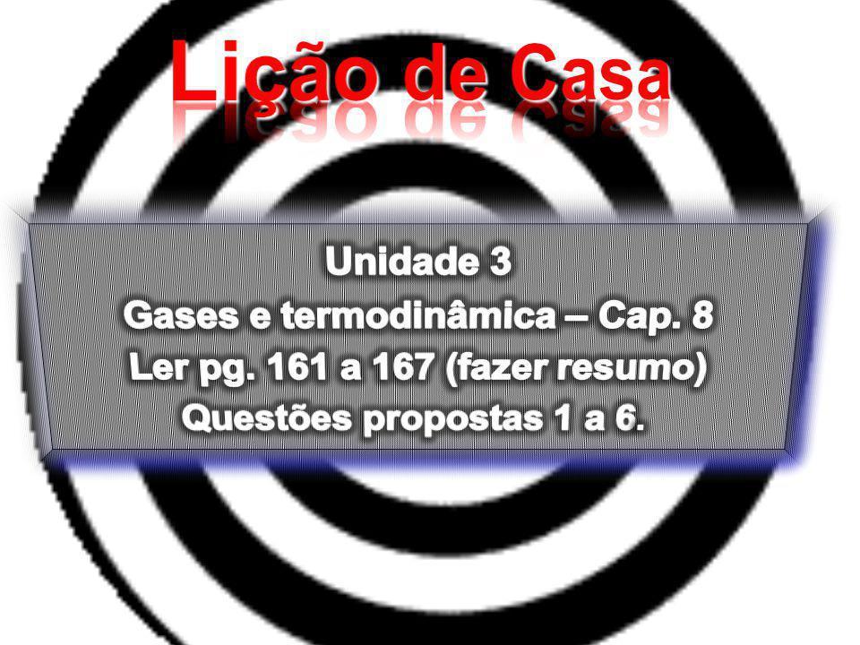 Gases e termodinâmica – Cap. 8