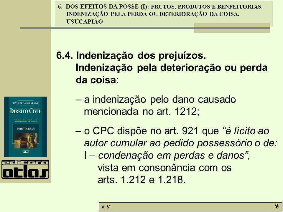 6.4. Indenização dos prejuízos.