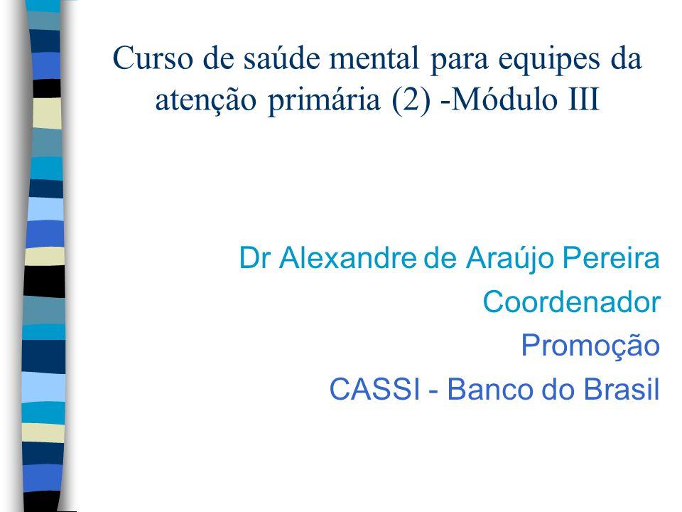 Curso de saúde mental para equipes da atenção primária (2) -Módulo III