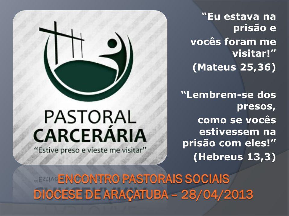 Encontro Pastorais sociais Diocese de Araçatuba – 28/04/2013