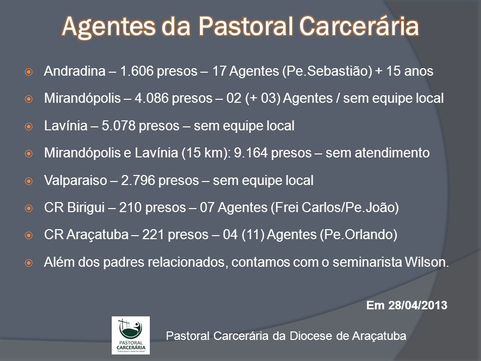 Agentes da Pastoral Carcerária