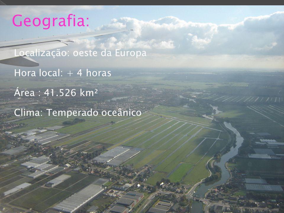 Geografia: Localização: oeste da Europa Hora local: + 4 horas