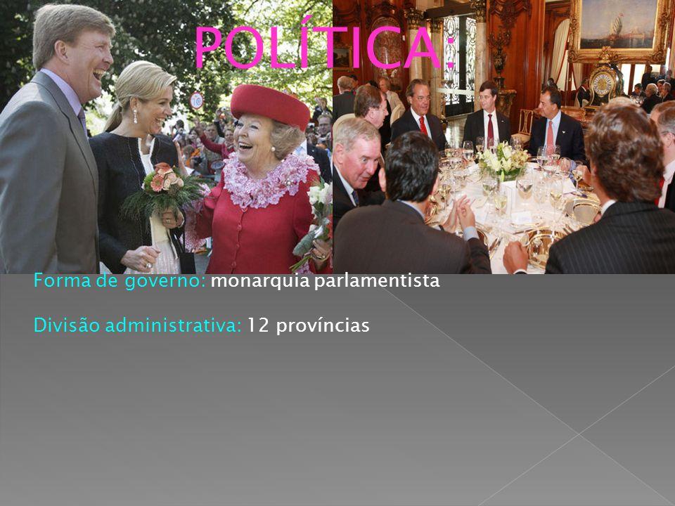 POLÍTICA: Forma de governo: monarquia parlamentista