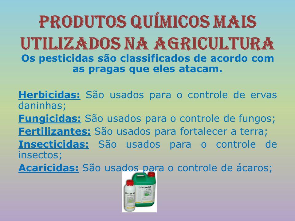 Produtos químicos mais utilizados na agricultura